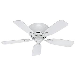 Hunter White Metal Low Profile 42 Inch Ceiling Fan