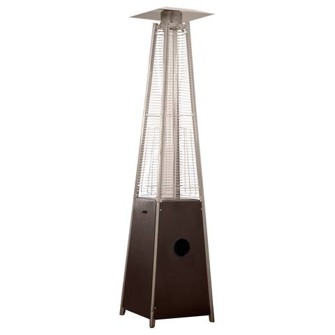 Tall Hammered Bronze Quartz Glass Tube Patio Heater