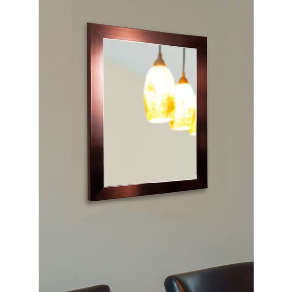 American Made Rayne Shiny Bronze Vanity Wall Mirror - Copper