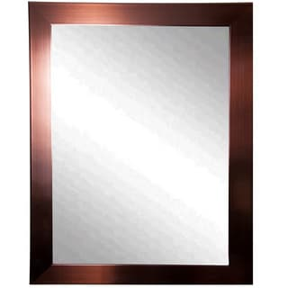 American Made Rayne Shiny Bronze Vanity Wall Mirror