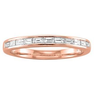 Montebello 14k Gold 1/2ct TDW Baguette-cut Diamond Band