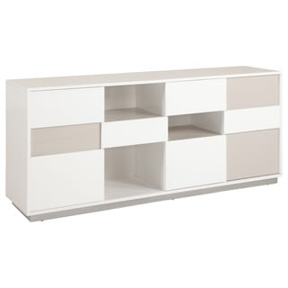 Somette Contemporary Two-tone Buffet with Open Storage