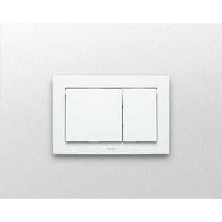 Toto Rectangle Push Plate - Dual Button YT800#WH White