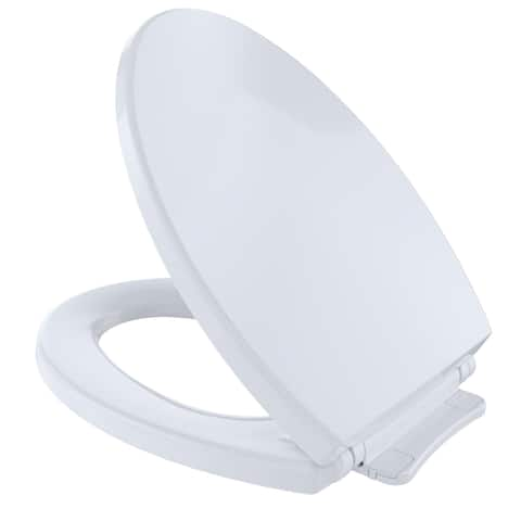 Toto SoftClose Non Slamming, Slow Close Elongated Toilet Seat and Lid, Cotton White (SS114#01)