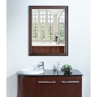 American Made Rayne Dark Walnut Wall Mirror