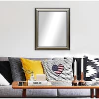 American Made Traditional Silver Wall/ Vanity Mirror - Black/Silver