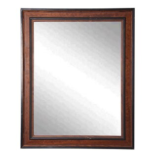 American Made Rayne Country Side Wall/ Vanity Mirror - Brown/Black