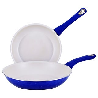 Farberware New Traditions Speckled Aluminum Nonstick 9 1/4-inch and 11 1/2-inch 2-piece Blue Skillet Set