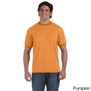 Men's Pigment Direct-dyed Heathered Ringer T-shirt