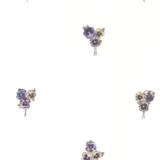 Magnolia White Lilac Toss Wallpaper