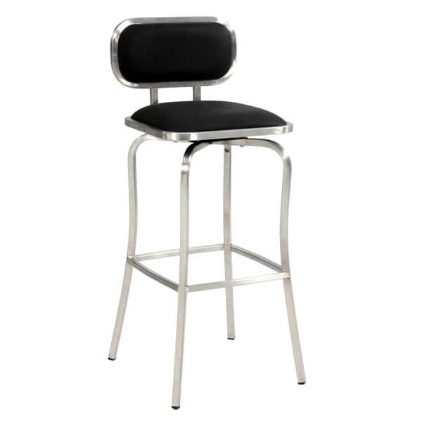 Terrific Shop Somette 30 Inch Stainless Steel Modern Swivel Bar Stool Machost Co Dining Chair Design Ideas Machostcouk