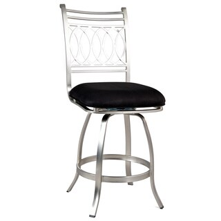 Somette Black Memory Return Swivel 26-inch Counter Stool
