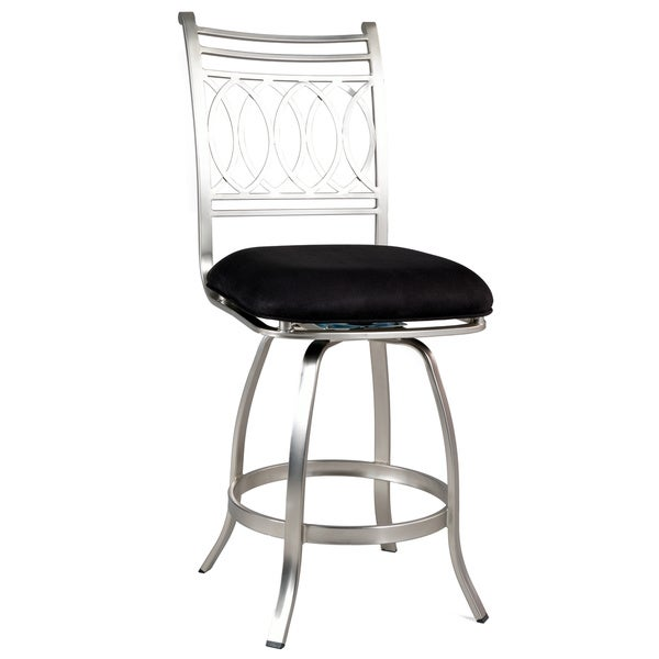 Shop Somette Black Memory Return Swivel 30 Inch Bar Stool