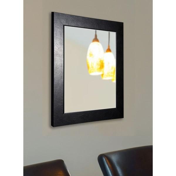 American Made Rayne Executive Black Textured Wall/ Vanity Mirror