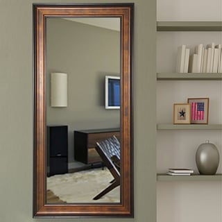 American Made Rayne Bronze and Black 33.75 x 68.75-inch Tall Vanity Wall Mirror