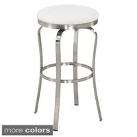 shop somette modern backless upholstered stainless steel 26 inch