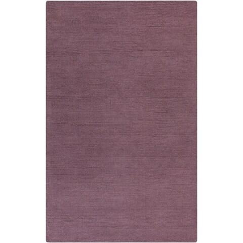 Hand-loomed Aspen Casual Solid Wool Area Rug