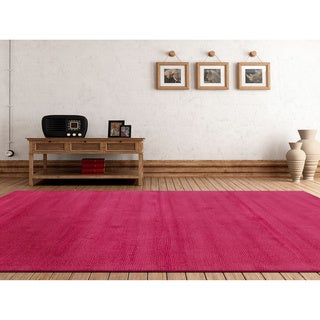 Hand-loomed Aspen Casual Solid Wool Area Rug (6' x 9')