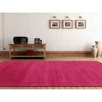 Hand-loomed Aspen Casual Solid Wool Area Rug - 6' x 9'