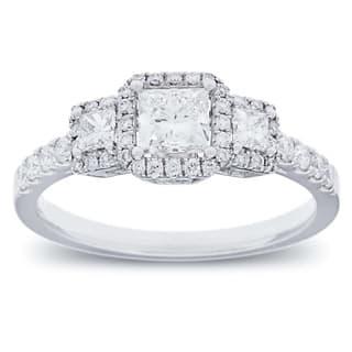 Azaro 14k White Gold 1ct TDW Diamond Halo Engagement Ring|https://ak1.ostkcdn.com/images/products/8912210/P16130188.jpg?impolicy=medium