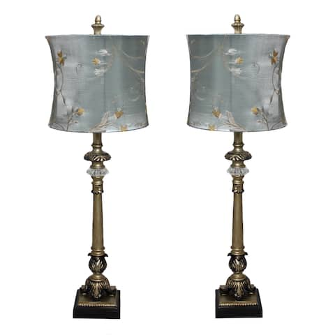 Contemporary 'Parisian Buffet' Hand-crafted Table Lamp (Set of 2)