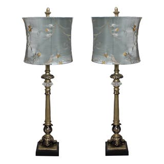 Casa Cortes 'Parisian Buffet' Hand-crafted Table Lamp (Set of 2)|https://ak1.ostkcdn.com/images/products/8912254/P16130205.jpg?impolicy=medium