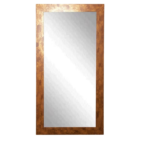 American made rayne tall gold stone tall mirror free for Tall gold mirror