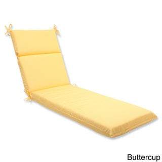 Pillow Perfect Outdoor Solid Chaise Lounge Cushion with Sunbrella Fabric