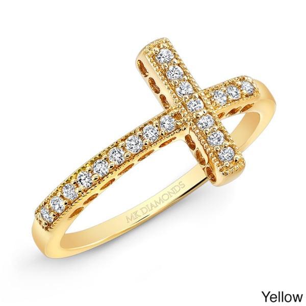 Shop Victoria Kay 14k Gold 1/6ct TDW Diamond Curved ...
