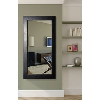 American Made Rayne Creased Black Full Length Wall/ Vanity Mirror