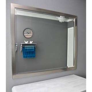 American Made Rayne Silver Petite Beveled Wall Mirror