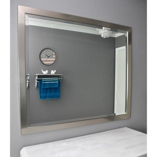 American Made Rayne Silver Beveled Mirror