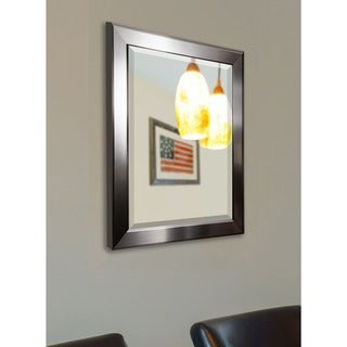 American Made Rayne Silver Sleek Beveled Wall/ Vanity Mirror