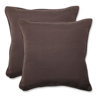 Pillow Perfect Outdoor Brown 18.5-inch Throw Pillow (Set of 2)