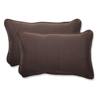 Pillow Perfect Outdoor Brown Rectangular Throw Pillow (Set of 2)