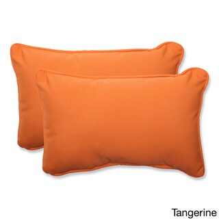 Pillow Perfect Solid Rectangular Throw Pillow with Sunbrella Fabric (Set of 2)