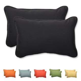 Pillow Perfect Solid Rectangular Throw Pillow with Sunbrella Fabric (Set of 2)