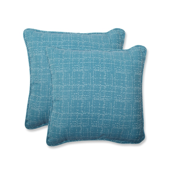 Shop pillow perfect 18 5 inch throw pillow with bella dura - Fabric for throw pillows ...