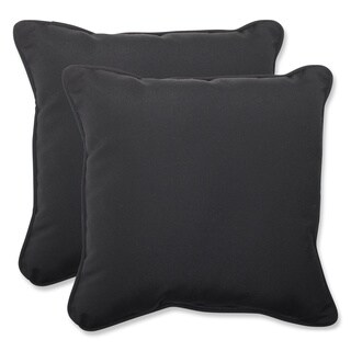 Pillow Perfect Outdoor Solid 18.5-inch Throw Pillow with Sunbrella Fabric (Set of 2)