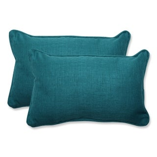 Pillow Perfect Outdoor Teal Rectangular Throw Pillow (Set of 2)