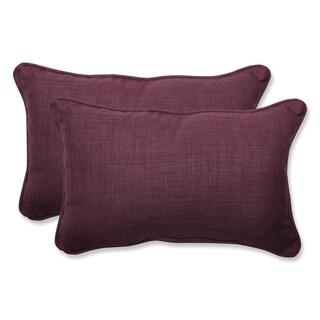 Pillow Perfect Outdoor Purple Rectangular Throw Pillow (Set of 2)