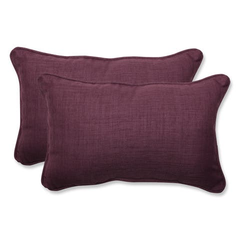 Pillow Perfect Outdoor Purple Rectangular Throw Set Of 2