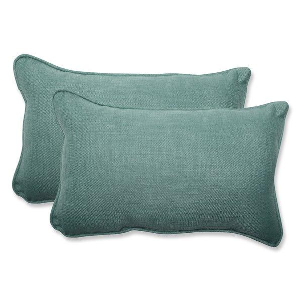 Pillow Perfect Outdoor Green Rectangular Throw Pillow (Set of 2) - Free Shipping Today ...