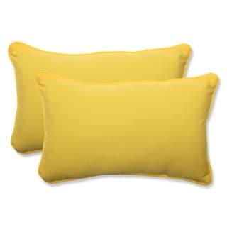 Pillow Perfect Outdoor Yellow Rectangular Throw Pillow (Set of 2)