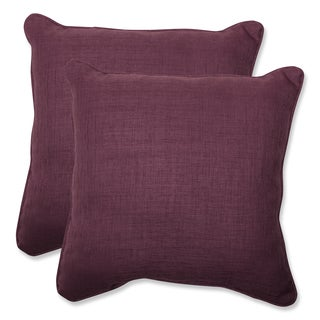 Pillow Perfect Outdoor Purple 18.5-inch Throw Pillow (Set of 2)