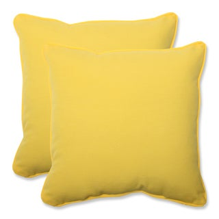 Pillow Perfect Outdoor Yellow 18.5-inch Throw Pillow (Set of 2)