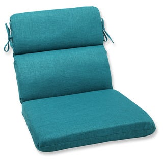 Pillow Perfect Outdoor Teal Rounded Corners Chair Cushion