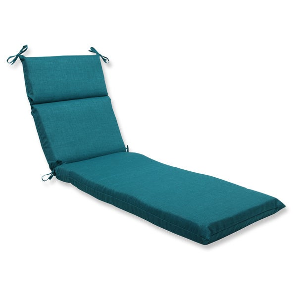 Pillow perfect outdoor teal chaise lounge cushion free for Home goods patio furniture cushions