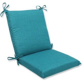Pillow Perfect Outdoor Teal Squared Corners Chair Cushion