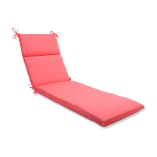 Pillow Perfect Outdoor Pink Chaise Lounge Cushion